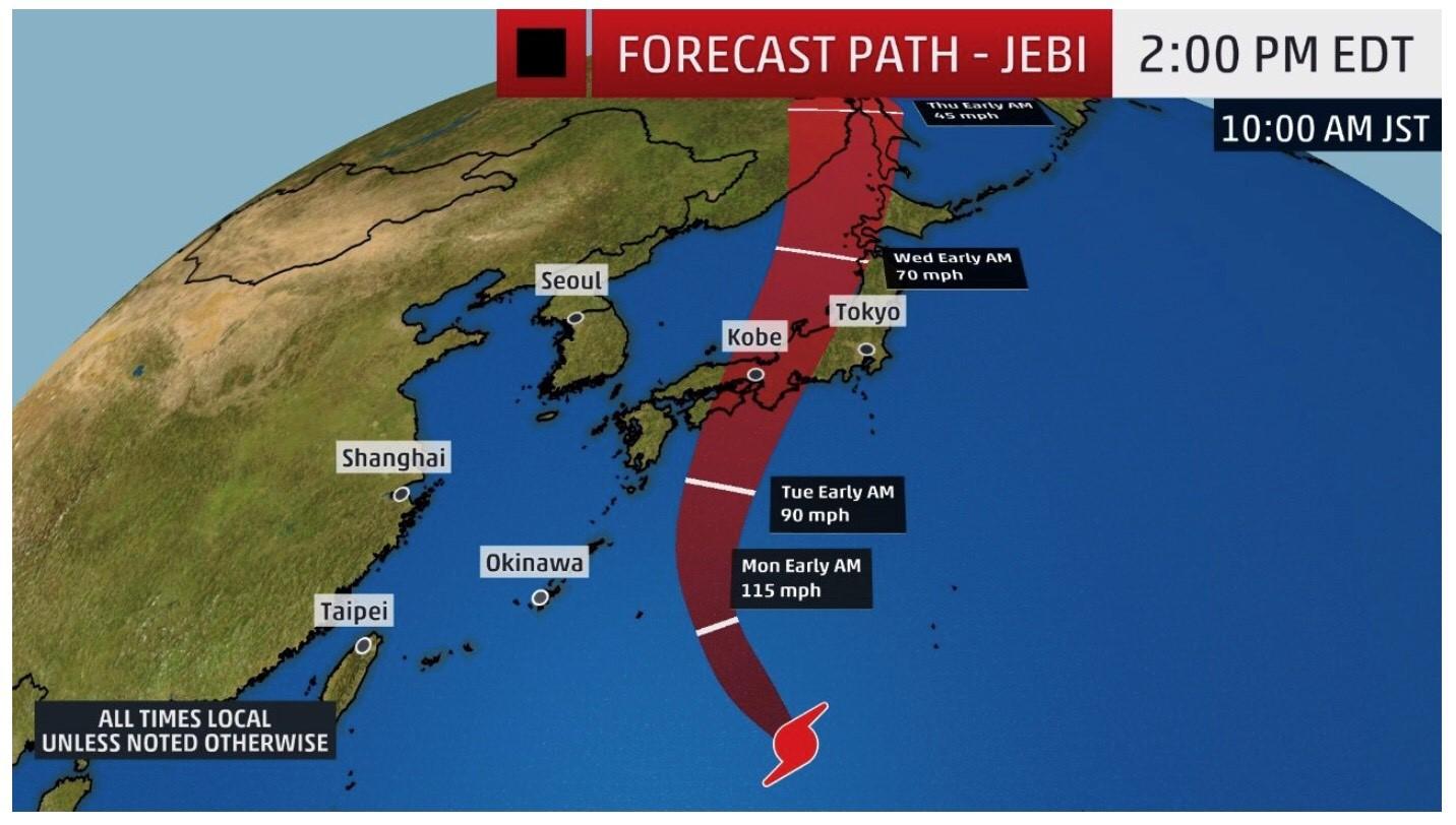 Resultado de imagen para Typhoon Jebi